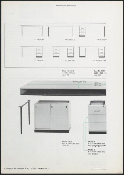 Tekenmachines loopwagenmachine tekentafels tekenkamerbureau nago - Object design eigentijds ontwerp ...